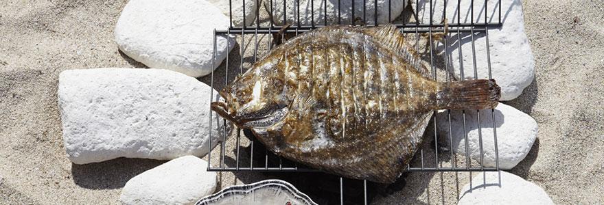 poisson à la plage