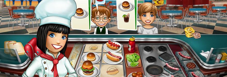 serveuse de fast-food